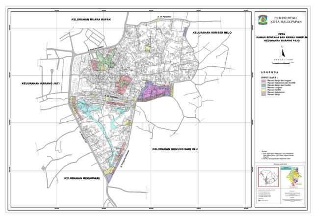 | Peta Kelurahan Karang Rejo